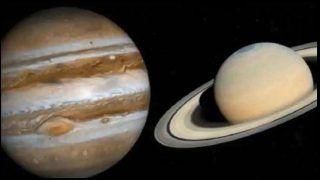 Jupiter Saturn Conjunction LIVE: 400 साल बाद आज अंतरिक्ष में होगा गुरु-शनि का महामिलन, ऐसे देखें लाइव