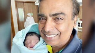 Check Out Mukesh Ambani Holding His Newborn Grandson in First Picture of Shloka and Akash's Baby