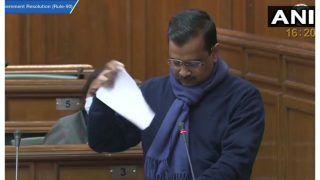Delhi BJP Files Police Complaint Against Kejriwal For Tearing Copies of Farm Laws, Alleges 'Instigation'
