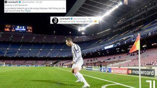 Lionel Messi vs Cristiano Ronaldo GOAT Debate: Juventus' Old Tweet Goes Viral After Turin Side Thrash Barcelona at Camp Nou