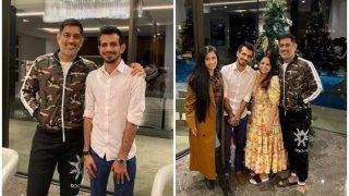 MS Dhoni Hosts Newlywed Yuzvendra Chahal-Dhanashree Verma For Dinner During Honeymoon in Dubai   PICS