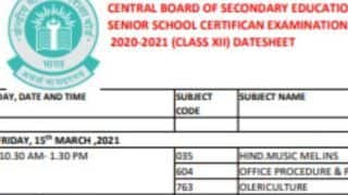 CBSE Class 12 Date Sheet 2021 Released? This Is What PIB Has To Say, Details Here