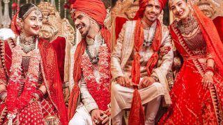 Yuzvendra Chahal's Wife Dhanashree Verma Looks Magnificent In Rs 6 Lakh Lehenga By Tarun Tahiliani On Her Wedding Day