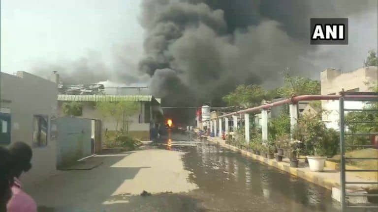 Telangana: 8 Injured After Massive Fire Breaks Out at Chemical Factory in Hyderabad, Rescue Ops Underway
