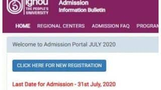 IGNOU July Admission 2020: Registration Process to End Tomorrow At ignouadmission.samarth.edu.in, Apply Now