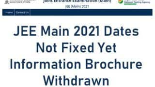 JEE Main 2021: NTA Pulls Off Notification Hours After Release, Says Dates Not Final Yet