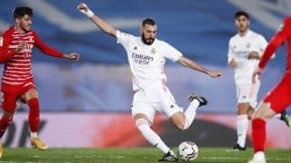La Liga 2020-21 Results: Karim Benzema Scores as Real Madrid Beat Granada to Move Level With League Leaders Atletico Madrid on Points