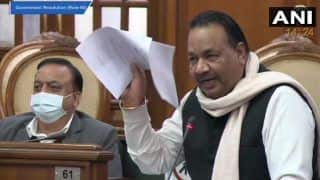 AAP Government Tables Resolution Against Centre's Farm Laws, MLA Tears Copies in Delhi Assembly