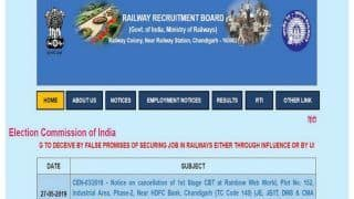 RRB Bhubaneswar Notifies NTPC Exam Date, City Intimation Time, CHECK Other Details Here