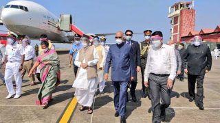 दो दिवसीय दौरे पर गोवा पहुंचे राष्ट्रपति रामनाथ कोविंद, 60वें मुक्ति दिवस समारोह में लेंगे भाग