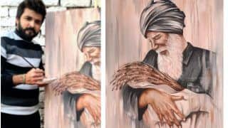 Art in Protest: Two Students From Patiala Do Live Paintings at Singhu Border to Support Farmers' Agitation