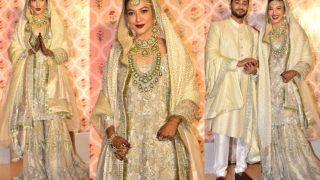 Gauahar Khan Says 'Qubool Hai' in a Silver Gharara by Pakistani Fashion Designer Saira Shakira - See Pics
