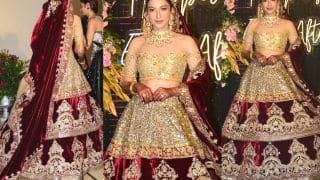 Gauahar Khan Gets Trolled For Her Wedding Reception Lehenga, Fans Say 'Something is Off'
