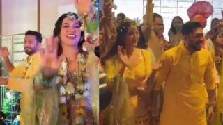 Watch Gauahar Khan-Zaid Darbar's Dhol Dance on 'Bole Chudiyan', 'Say Shava Shava' From Pre-Wedding Ceremony