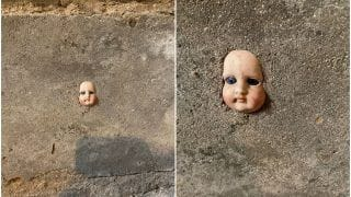 Woman Finds Creepy Doll's Face Cemented in Wall of Her New Home, Pictures Will Freak You Out