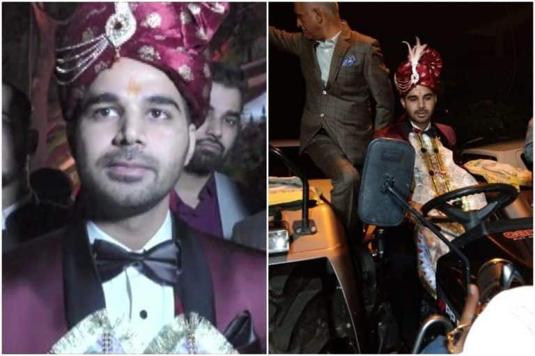 Haryana Groom Ditches Mercedes, Arrives For Wedding on Tractor to Support Farmers' Protests