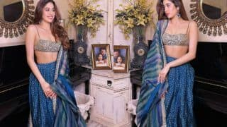 Janhvi Kapoor Looks Like a Vision in a Blue Lehenga Worth Rs 78,000 by Arpita Mehta - Yay or Nay?