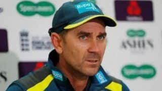 Australian cricket team coach justin langer believes his team is still in strong position against team india in adelaide day night test 4267028