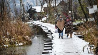 Kashmir Witnesses Season's First Snowfall, Roads Blocked | See Photos