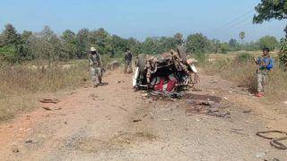 Chhattisgarh Latest NEWS: नक्सलियों ने IED ब्लास्ट से उड़ाई कार, दो नागरिक घायल
