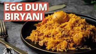 Egg Dum Biryani: Here's How You Can Make Sumptuous Ande Ki Biryani In 50 Minutes