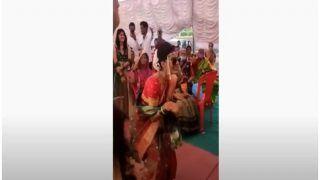 शादी पर दुल्हन की धमाकेदार एंट्री, Sunny Leone के गाने 'मेरे सइयां सुपरस्टार' पर यूं लगाए ठुमके- VIDEO वायरल