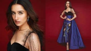 Shraddha Kapoor Looks Wondrous in a Royal Blue Duchess Satin Dress by Gauri and Nainika, Leaves Netizens Drooling Over Her Pictures