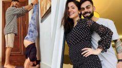 बेबी बंपके साथ शीर्षासन कर रही हैं अनुष्का शर्मा, विराटने ऐसे दिया साथ, Photo Viral