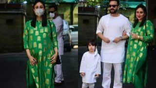 Christmas 2020: Kareena Kapoor Khan's Pregnancy Glow in Green Kurta From House of Masaba is Unmissable, Bebo's Festive Outfit Costs Rs 9k, See Pictures