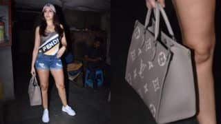 Nora Fatehi Caries Rs 2.5 Lakh Bag, Looks Hot And Sizzling in Dapper Ensemble