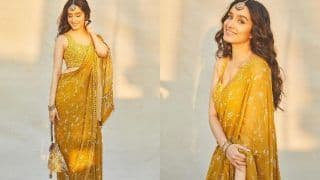 Shraddha Kapoor Sets Mercury Soaring This December in Rs 62k Mustard Yellow Saree by Arpita Mehta, See Her Steamy Pictures Here