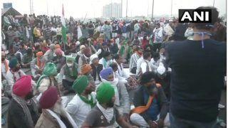 Farmers Protest at Delhi Border: 9वें दिन भी किसानों का प्रदर्शन जारी, यूपी और हरियाणा से राजधानी में एंट्री दूभर
