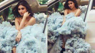 Mouni Roy is a 'Cloud Walker' in an Exaggerated Sky Blue Gown by Annu Patel, Diva Looks Like an Angel in The Attire, See Pics