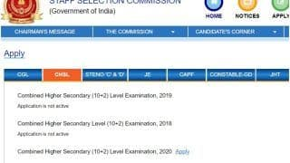 SSC CHSL Recruitment 2020: Application Deadline Extended, CGL Notification Delayed Too | Check New Dates, Other Details Here