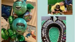 Taimur Ali Khan Birthday Party Pictures: Tim's Horseshoe Birthday Cake to Hulk Balloons, Everything You Need to See