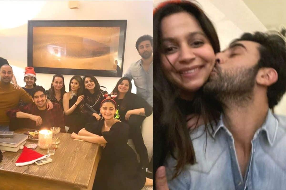 Ranbir Kapoor Kisses Alia Bhatt's Sister Shaheen Bhatt at The Family Christmas Party – See Pics | India.com
