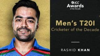 Afghanistan Spinner Rashid Khan Named ICC Men's T20I Cricketer of The Decade