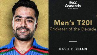 Afghanistan Spinner Rashid Khan Named ICC Men's T20I Cricketer of The Decade