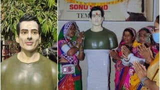 'He is a God For Us': Telangana Villagers Build Temple For Sonu Sood, Perform Aarti & Sing Folk Songs | Watch
