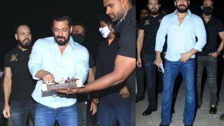 Salman Khan Cuts His Birthday Cake at Panvel Farmhouse, Says 'in no Mood to Celebrate'