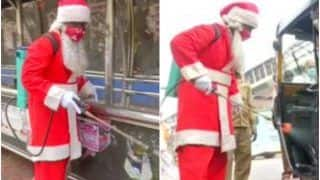 Christmas 2020: Mumbai Man Dressed as Santa Carries Out Sanitisation, Distributes Masks to The Needy