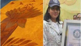 BHU Student Creates World's Largest Painting With Natural Colours, Makes it to Guinness World Records