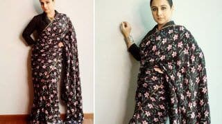 Vidya Balan Looks Magnificent In Black Floral Saree By The Haelli Worth Rs 6499, See PICS