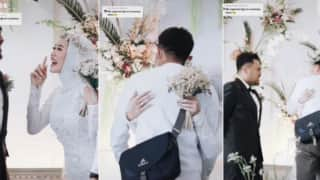 Bride Asks For Husband's Permission To Hug Her Ex-Boyfriend After He Shows Up At Their Wedding | Watch
