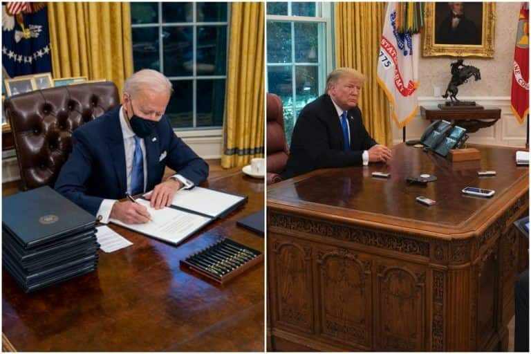 Biden Gets Rid of Trump's Diet Coke Button From White House Desk, Twitter is Very Amused!