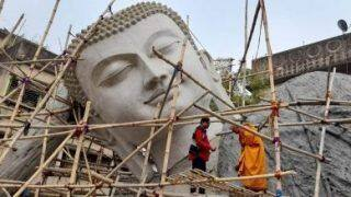 India's Largest Reclining Buddha Statue Underway, Expected to be Installed in Bodh Gaya on Buddha Purnima