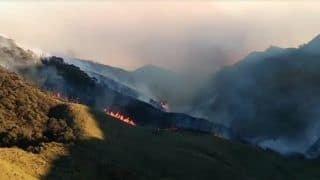 Nagaland's Dzukou Valley Wildfire Likely to be Fully Doused in 24 Hours: Officials