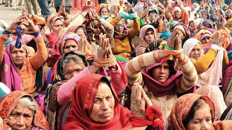 Women Take Over Protests For a Day to Mark 'Women Farmers' Day' Amid Ongoing Agitation