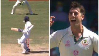 3rd Test: Pat Cummins Clean Bowls Ajinkya Rahane With a Peach at SCG During IND vs AUS | WATCH VIDEO