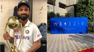 WATCH VIDEO - Ajinkya Rahane Gets Hero's Welcome Upon Arrival From Australia After Winning Border-Gavaskar Trophy, Greeted by Wife And Daughter